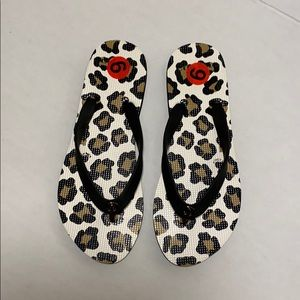 NWT Coach sandals leopard print size 6